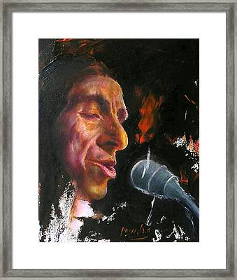 Flamenco Singer 1 Framed Print