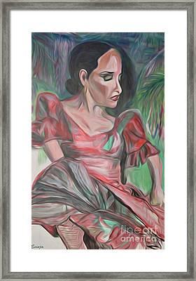 Flamenco Solo Framed Print by Ecinja Art Works