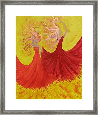 Framed Print featuring the painting Flamenco by Stephanie Grant