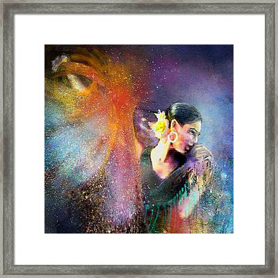 Flamencoscape 04 Framed Print by Miki De Goodaboom
