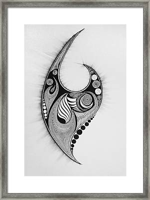 Flames And Orbs Framed Print by Kelly Hazel