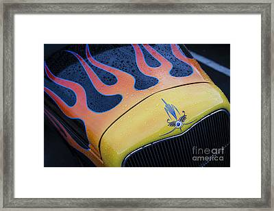 Wet Flames Framed Print