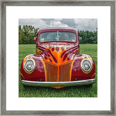 Flames Framed Print by Guy Whiteley
