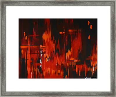 Flames Of Passion Framed Print by Dani Abbott