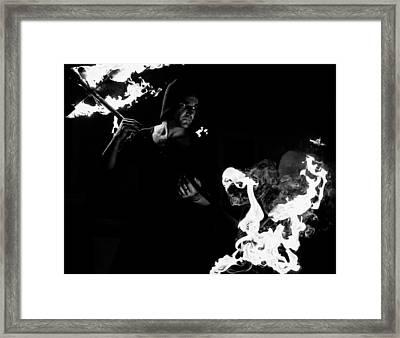 Flames Of Revenge Framed Print