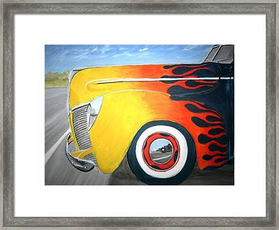 Framed Print featuring the painting Flames by Stacy C Bottoms