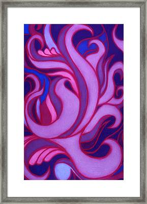 Framed Print featuring the pastel Flames by Susan Will