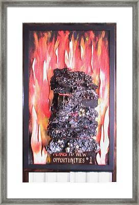 Flames To New Opportunities #1 Framed Print by Tanna Lee M Wells