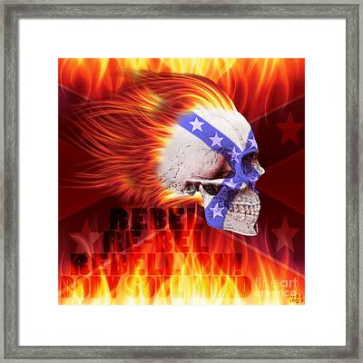 Flamin Rebel Framed Print