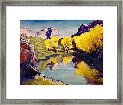 Flaming Aspens Framed Print by Ken Shuey