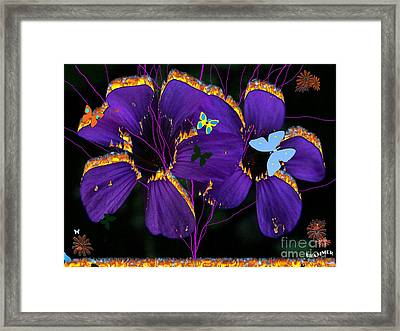 Flaming Flowers Framed Print by Bobby Hammerstone