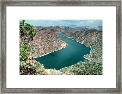 Flaming Gorge National Recreation Area In Utah. Framed Print