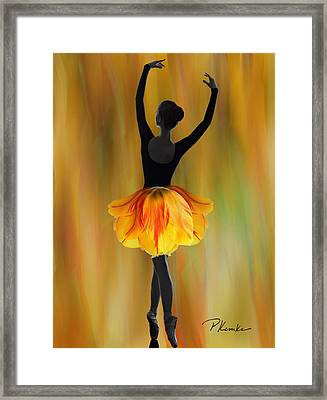 Flaming Grace Framed Print