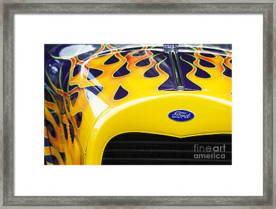 Flaming Hot Rod Framed Print