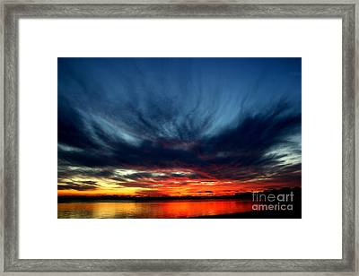 Flaming Hues Framed Print