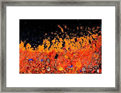 Flaming Paint Splatters Framed Print by Amy Cicconi