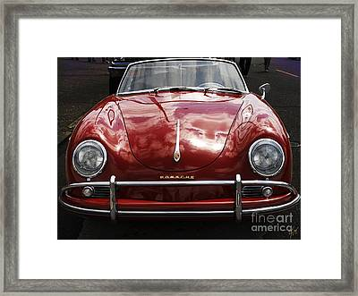 Framed Print featuring the photograph Flaming Red Porsche by Victoria Harrington