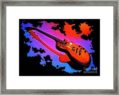 Flaming Rock Framed Print
