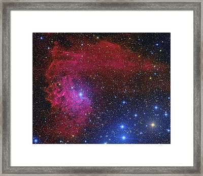 Flaming Star Nebula Framed Print