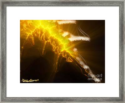 Flaming Sword Of Truth Framed Print by Dana Haynes