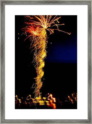 Flaming Tornado Framed Print by Brian Gibson