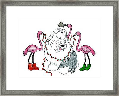 Flamingo Decorators Framed Print