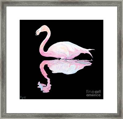 Framed Print featuring the painting Flamingo by Eric Kempson