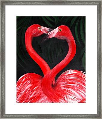 Love  Is... Flamingo Love. Inspirations Collection Framed Print