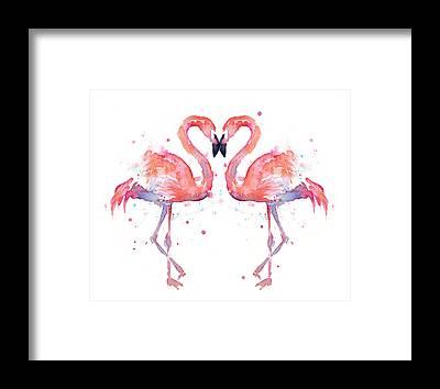 Pink Flamingo Framed Prints