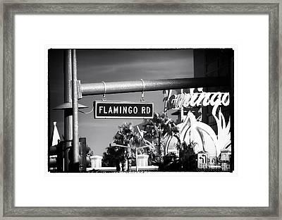 Flamingo Road Framed Print by John Rizzuto