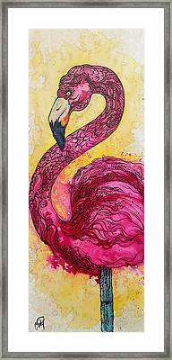 Flamingo Yo Framed Print