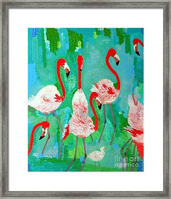 Flamingos 1 Framed Print
