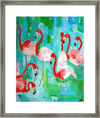 Flamingos 2 Framed Print