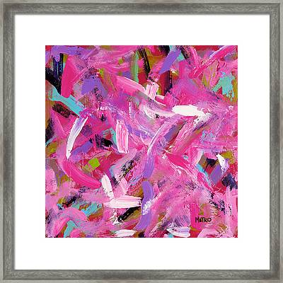 Flamingos In The Park Framed Print