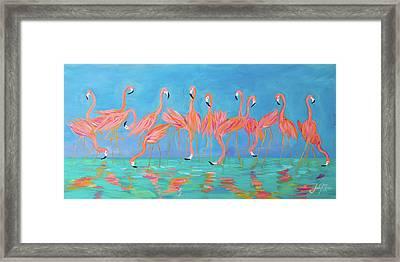 Flamingos Framed Print