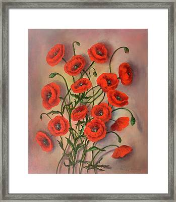 Flander's Poppies Framed Print