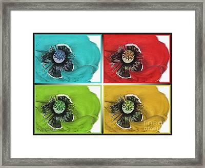 Flanders Poppy Pop Art Framed Print