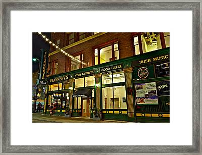 Flannerys Pub Framed Print by Frozen in Time Fine Art Photography