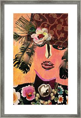 Flapper Lady Framed Print by Diane Fine
