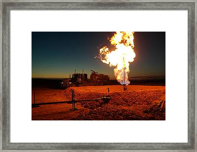Flare And A Vacuum Truck Framed Print by Jeff Swan