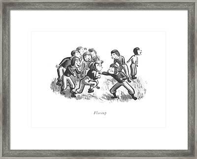 Flareup Framed Print by William Steig