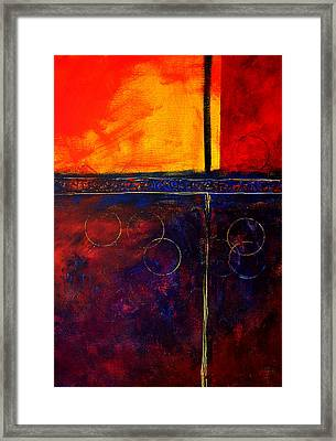 Flash Abstract Painting Framed Print