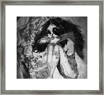 Flash Black Framed Print by Kim Prowse