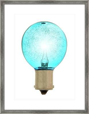 Flash Bulb Framed Print by Jim Hughes