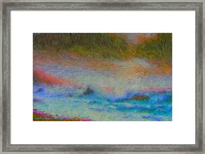 Flash Flooding Framed Print by Wayne Bonney