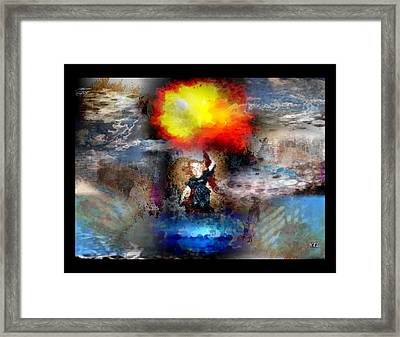 Framed Print featuring the digital art Flash by Kelly McManus