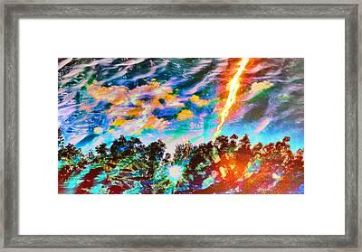 Flash Of Lightning Framed Print by Armin Schumm