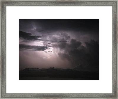 Flashes Of Lightening Framed Print by Fortunate Findings Shirley Dickerson