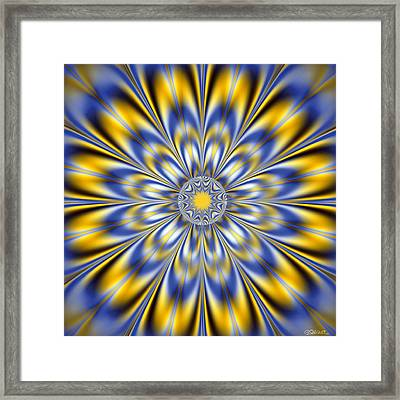 Flashing Star Framed Print