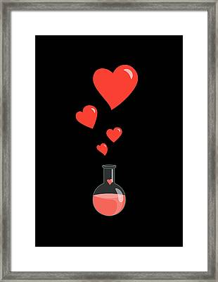 Flask Of Hearts Framed Print